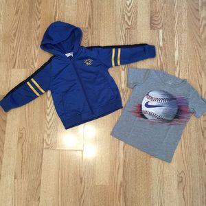 Toddler Boy 3T spring summer jacket shirt bundle